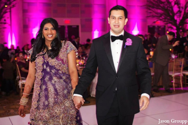 Indian wedding bride groom reception in Exquisite Indian Wedding by Jason Groupp Photography, Jersey City, New Jersey