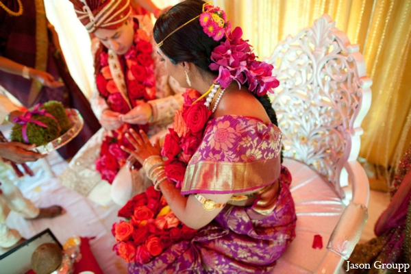 Indian wedding bride groom traditional ceremony in Exquisite Indian Wedding by Jason Groupp Photography, Jersey City, New Jersey