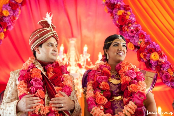 Indian wedding bride groom venue ceremony mandap in Exquisite Indian Wedding by Jason Groupp Photography, Jersey City, New Jersey