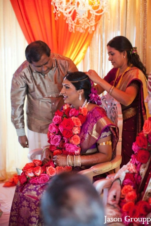 Indian wedding bride jai mala ceremony in Exquisite Indian Wedding by Jason Groupp Photography, Jersey City, New Jersey
