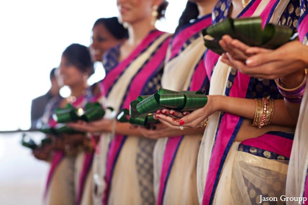 Indian wedding ceremony bridesmaids in Exquisite Indian Wedding by Jason Groupp Photography, Jersey City, New Jersey