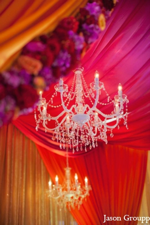 Featured Indian Weddings,orange,hot pink,wedding ceremony mandap,inspiration for mandap,fabric mandap,draped mandap,colorful mandap decor
