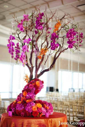 Indian wedding floral decor venue ceremony in Exquisite Indian Wedding by Jason Groupp Photography, Jersey City, New Jersey