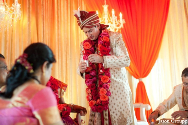 Indian wedding groom ceremony traditional in Exquisite Indian Wedding by Jason Groupp Photography, Jersey City, New Jersey