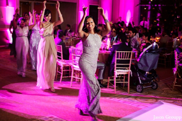 Indian wedding lighting reception dancing in Exquisite Indian Wedding by Jason Groupp Photography, Jersey City, New Jersey