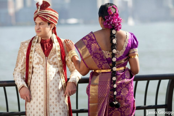 Indian wedding portrait ideas bride groom in Exquisite Indian Wedding by Jason Groupp Photography, Jersey City, New Jersey