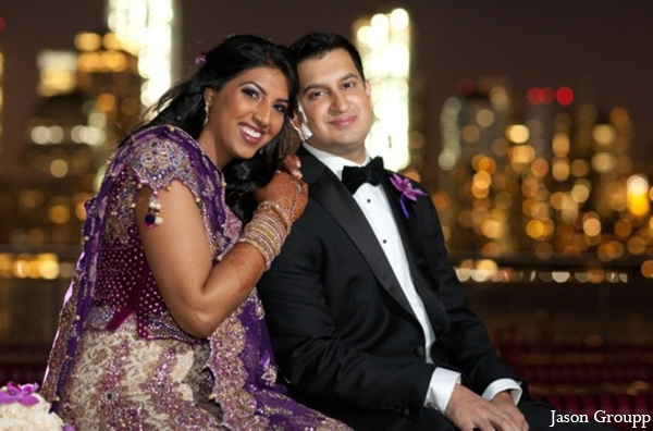 Indian wedding reception bride groom venue in Exquisite Indian Wedding by Jason Groupp Photography, Jersey City, New Jersey