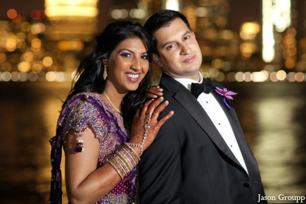 Indian wedding reception bride groom in Exquisite Indian Wedding by Jason Groupp Photography, Jersey City, New Jersey
