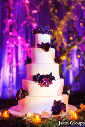 Indian wedding reception cakes sweets in Exquisite Indian Wedding by Jason Groupp Photography, Jersey City, New Jersey