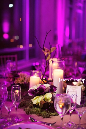 Indian wedding reception lighting decor in Exquisite Indian Wedding by Jason Groupp Photography, Jersey City, New Jersey