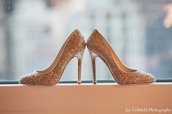 Indian wedding bridal shoes inspiration in Chicago, Illinois Indian Wedding by Jay Crihfield Photography