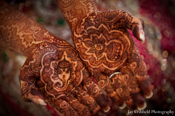 Indian wedding bridal henna mehndi in Chicago, Illinois Indian Wedding by Jay Crihfield Photography