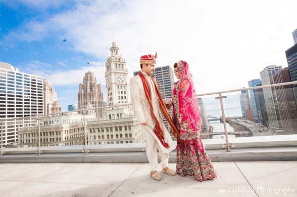 Indian wedding bride groom portraits in Chicago, Illinois Indian Wedding by Jay Crihfield Photography