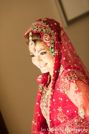 red,gold,bridal fashions,Hair & Makeup,portraits,indian wedding bride,bridal portraits,traditional bridal dress,Jay Crihfield Photography