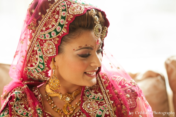 Indian wedding bridal portrait maharani traditional in Chicago, Illinois Indian Wedding by Jay Crihfield Photography