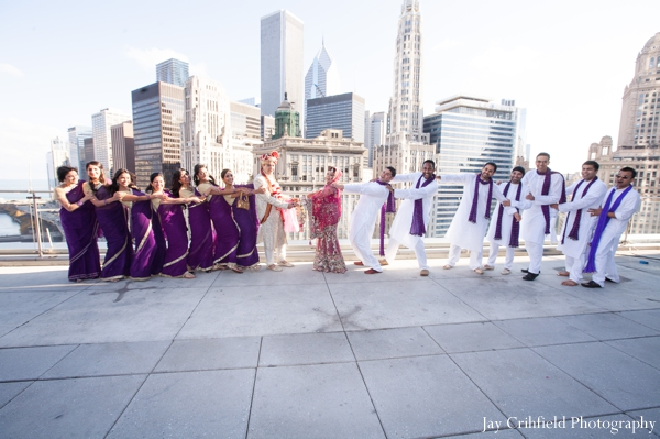 Indian wedding traditional party portraits in Chicago, Illinois Indian Wedding by Jay Crihfield Photography