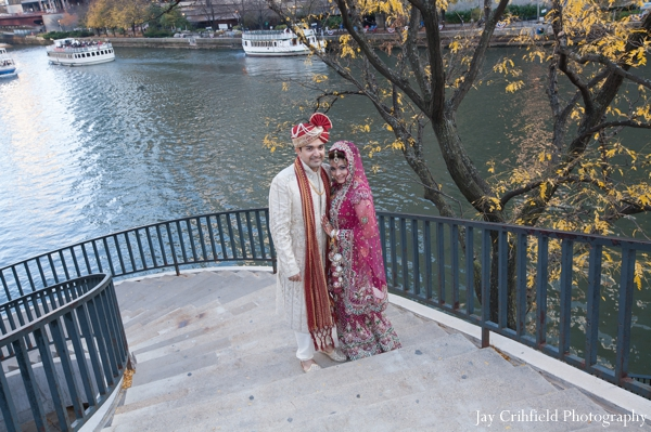 Indian wedding bride groom traditional portrait in Chicago, Illinois Indian Wedding by Jay Crihfield Photography