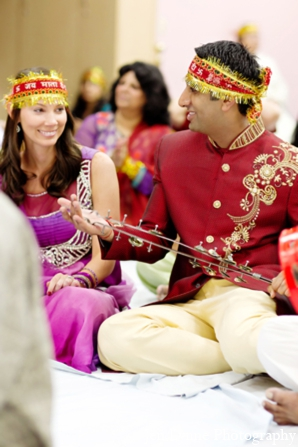 Indian wedding bride groom in Chicago, Illinois Indian Fusion Wedding by Jen Lynne Photography