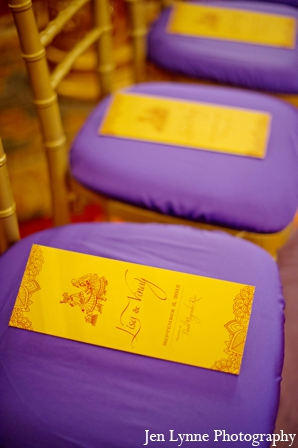 Indian wedding ceremony cards in Chicago, Illinois Indian Fusion Wedding by Jen Lynne Photography