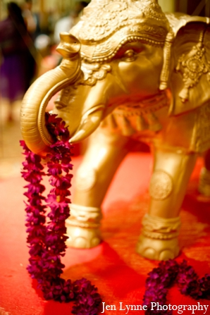 Indian wedding ceremony floral decor in Chicago, Illinois Indian Fusion Wedding by Jen Lynne Photography