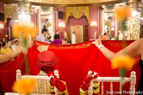 Indian wedding ceremony ritual in Chicago, Illinois Indian Fusion Wedding by Jen Lynne Photography