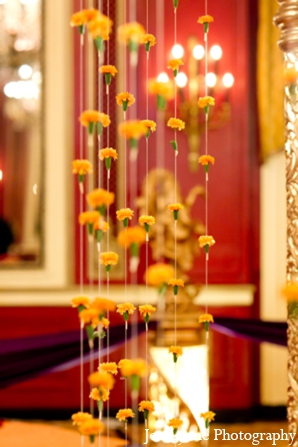 Indian wedding floral mandap in Chicago, Illinois Indian Fusion Wedding by Jen Lynne Photography