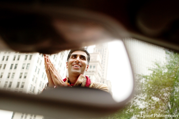 Indian wedding groom baraat in Chicago, Illinois Indian Fusion Wedding by Jen Lynne Photography