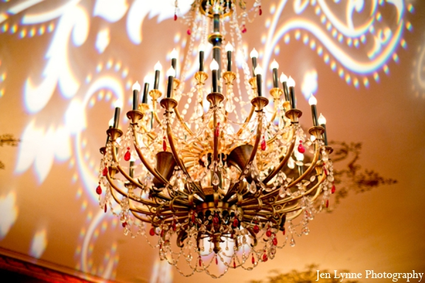 Indian wedding lighting production in Chicago, Illinois Indian Fusion Wedding by Jen Lynne Photography