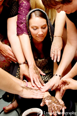 Indian wedding mehndi party in Chicago, Illinois Indian Fusion Wedding by Jen Lynne Photography