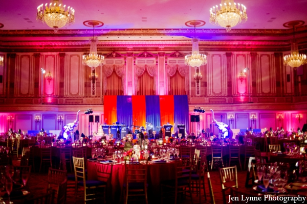 Indian wedding reception design planning in Chicago, Illinois Indian Fusion Wedding by Jen Lynne Photography