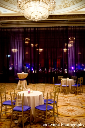 Indian wedding reception design in Chicago, Illinois Indian Fusion Wedding by Jen Lynne Photography