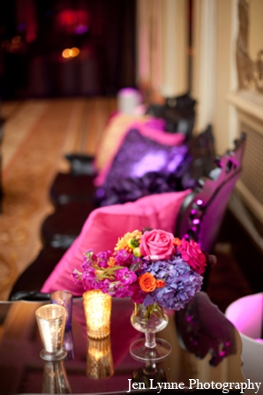 Indian wedding reception seating in Chicago, Illinois Indian Fusion Wedding by Jen Lynne Photography