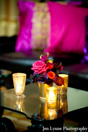 Indian wedding simple floral in Chicago, Illinois Indian Fusion Wedding by Jen Lynne Photography