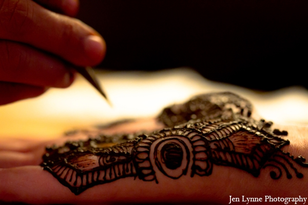 Indian wedding traditional bridal mehndi in Chicago, Illinois Indian Fusion Wedding by Jen Lynne Photography