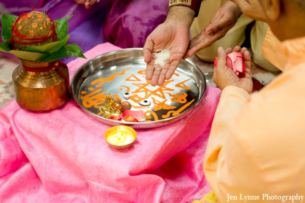 Indian wedding traditional ceremony elements in Chicago, Illinois Indian Fusion Wedding by Jen Lynne Photography