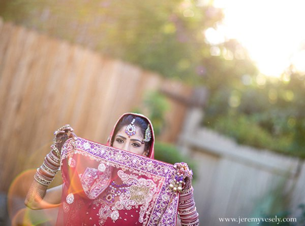 Indian wedding bridal fashions bride in Sacramento, CA Indian Wedding by Jeremy Vesely Photography