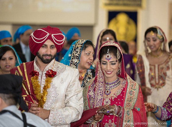 Indian wedding bride groom ceremony in Sacramento, CA Indian Wedding by Jeremy Vesely Photography