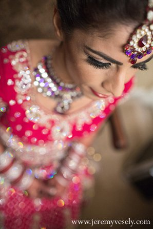 Indian wedding bride makeup in Sacramento, CA Indian Wedding by Jeremy Vesely Photography