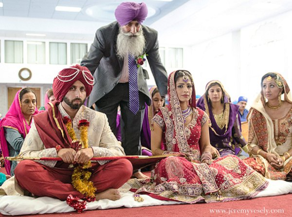 Indian wedding ceremony groom bride in Sacramento, CA Indian Wedding by Jeremy Vesely Photography