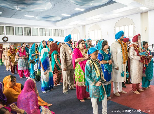 Indian wedding ceremony guests in Sacramento, CA Indian Wedding by Jeremy Vesely Photography