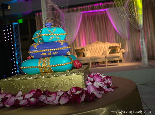Indian wedding reception cake treat in Sacramento, CA Indian Wedding by Jeremy Vesely Photography