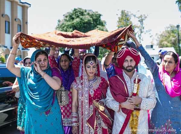 Indian wedding traditions bride groom ceremony in Sacramento, CA Indian Wedding by Jeremy Vesely Photography