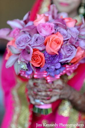 Indian-wedding-bridal-boquet-colorful-portrait