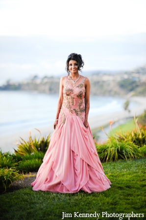 Indian-wedding-bridal-gown-outdoors-portrait