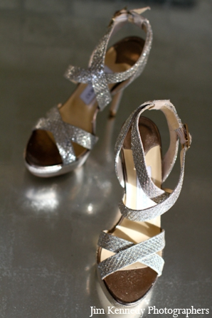 Indian-wedding-bridal-shoes-silver-shiny