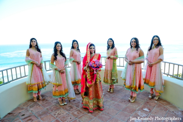 Indian-wedding-bride-bridal-party-portrait