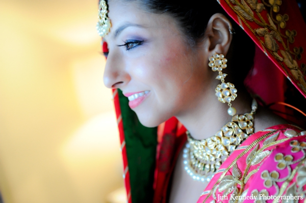 Indian-wedding-bride-getting-ready-portrait-gold-jewelry