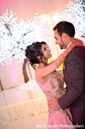 Indian-wedding-bride-groom-dance-reception