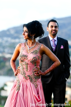 Indian-wedding-bride-groom-reception-outfit-portraits