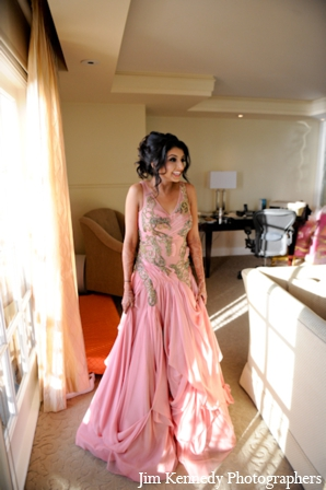 Indian-wedding-bride-pink-dress-prep-for-reception